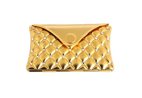 Rucci Compact Mirror with Rhinestones, Gold