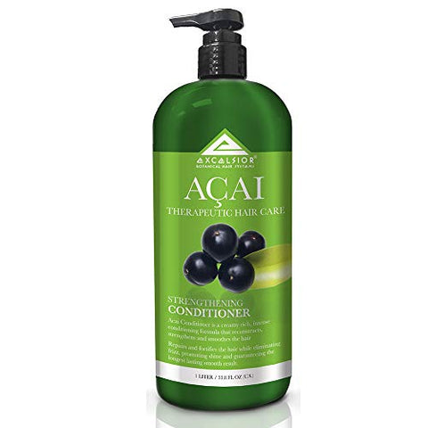 Excelsior Therapeutic Hair Care Acai Strengthening Conditioner 33.8 oz. (Pack of 3)