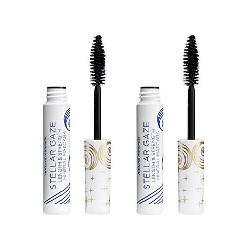 Pacifica Stellar Gaze Length & Strength Mascara, Vegan & Cruelty Free, Supernova (Black), 0.5 Fl Oz