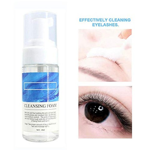 Eyelash Extension Cleanser Non-Irritating Lash Makeup Cleansing Foam Makeup Remover 60mL