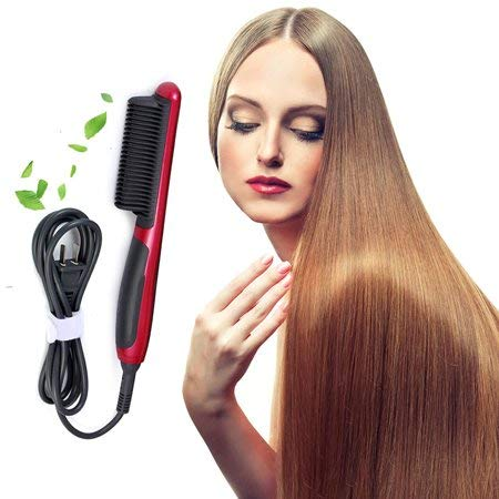 Electric Hair Straightener Flat Iron Instant Magic Straight Hair Straightening Styling With Ceramic LCD Temperature Display