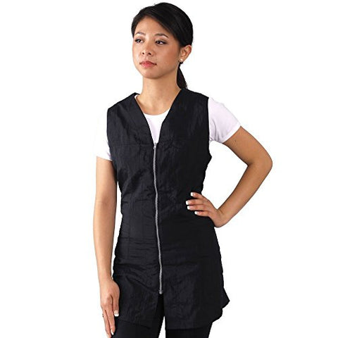 JMT Beauty Black Zipper Sleeveless Salon Smock (XXXL (16))