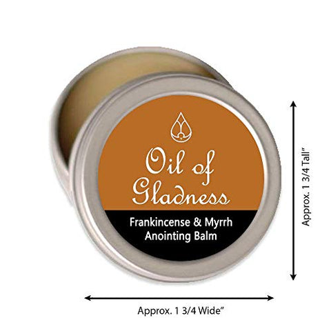 Oil of Gladness Anointing Oil Frankincense and Myrrh Solid Balm