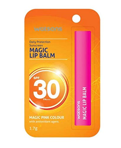 WATSONS Magic Lip Balm SPF30 1.7g-This Magic Sunscreen Lip Balm Protects Against Sun Damage and Thermal Aging