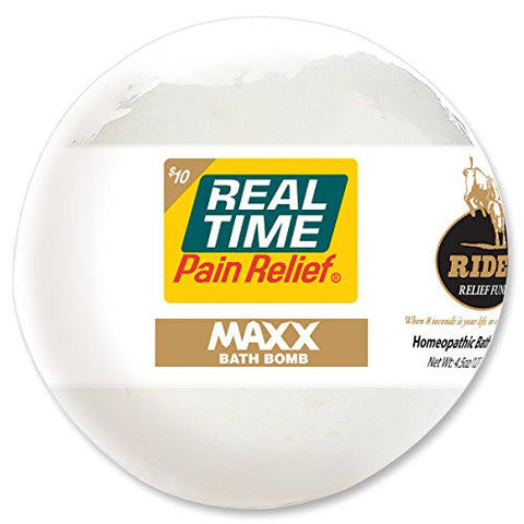 Real Time Pain Relief Bath Bombs, MAXX Bath Bomb, 4.5oz