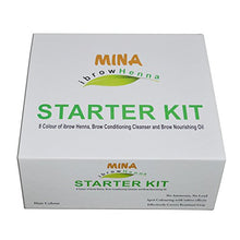 Mina Ibrow Henna Starter Kit (8 Colors Of Ibrow Henna, Brow Conditioning Cleanser & Brow Nourishing