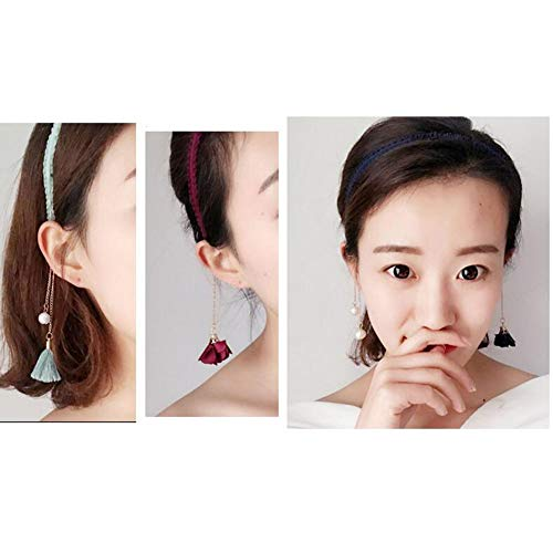 2PCS Fashion Hairpin with False Sweet Earring Headbands Hair Accessories-Gray
