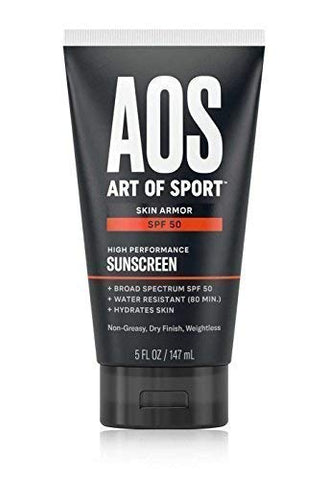 Art of Sport Sunscreen SPF 50, Water-Resistant, Broad Spectrum UVA/UVB Protection, Oil-Free and Dry Finish, Reef Friendly, 5 oz (1-Pack)