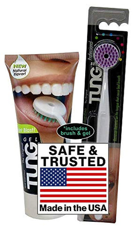 Peak Essentials | Natural Tung Gel | Premium | Tongue Cleaner | Odor Eliminator | Fight Bad Breath | Fresh Mint | BPA Free | Made in America (STARTER PACK)