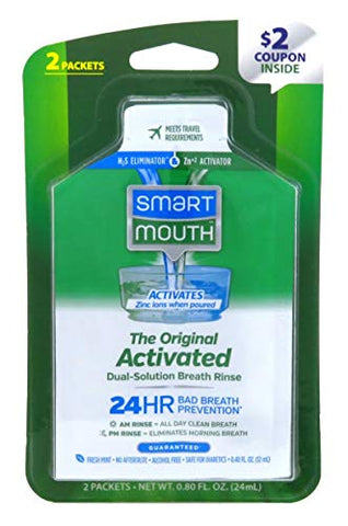 Smart Mouth Original Activated Breath Rinse Travel, 2 Ea, 2count
