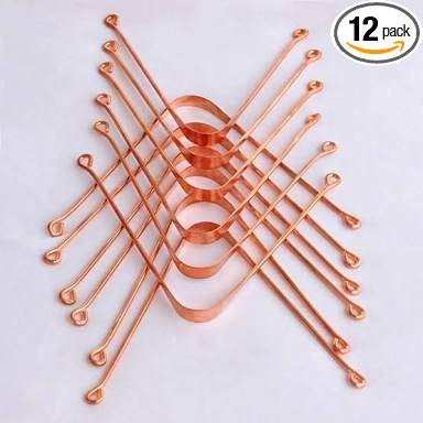 Pure Copper Tongue Cleaners Set of 12