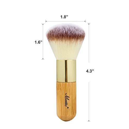 Matto Bamboo Powder Mineral Kabuki Brush - Large Coverage Powder Mineral Foundation Makeup Brush 1 Piece