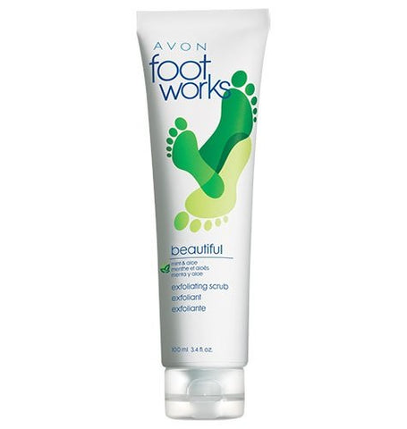 Avon Foot Works Beautiful Mint & Aloe Scrub 3.4 fl oz