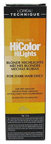 Loreal Excel Hicolor Hilights Ash Blonde 1.2oz (3 Pack)