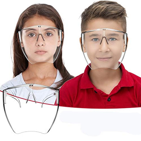 Owill Anti-Fog Clarity Face_Shield with Glasses Design for Kids, Comfort & Safety Reusable Clear Face Protection, Breathable Protective Transparent Full Face Protection for Children (1 PC)