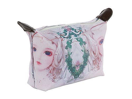 Anime Doll Face Print Vinyl Makeup Cosmetic Pouch Bag Accessory (Style 304B)