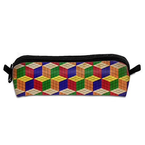 Rubik Cube Novelty Colored Quality Zipper Travel Storage Makeup Cosmetic Bag Purse