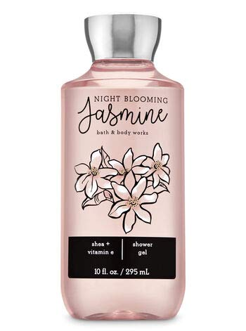 Bath and Body Works NIGHT BLOOMING JASMINE - Deluxe Gift Set Body Lotion - Body Cream - Fragrance Mist and Shower Gel - Full Size