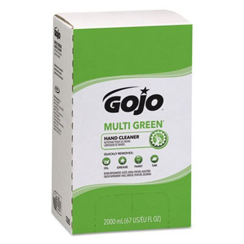 GOJO MULTI GREEN Hand Cleaner Refill, 2000 mL, Citrus Scent, Green - Includes four per case.