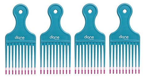 Diane Mebco Small 5.25 Inch Lift Comb Turquoise 4 Pieces