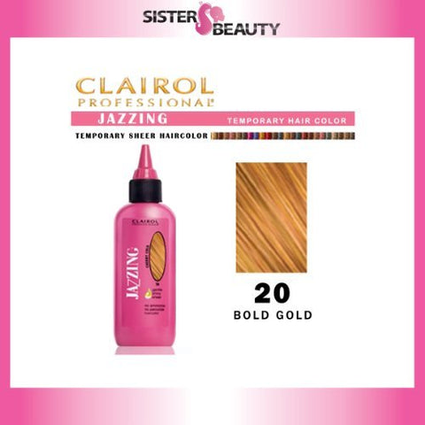 Clairol Jazzing Semi Permanent Hair Color, 20 Bold Gold