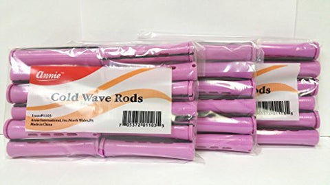 3 Packs of Annie Cold Wave Rods (Jumbo) #1103 12Pcs/Pack