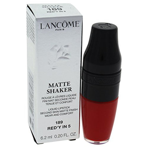 Lancome Matte Shaker Liquid Lipstick, Red'y In 5, 0.2 Ounce