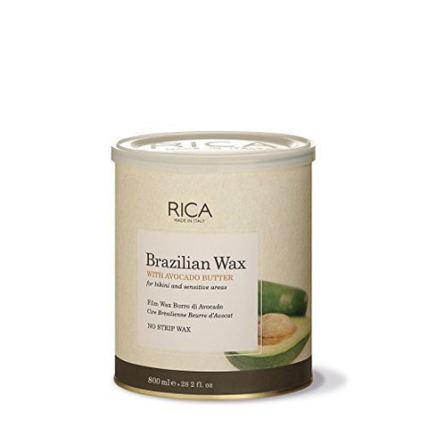 RICA Brazilian Wax with Avocado Butter - Made in Italy - For Bikini & Face Wax (28.2 OZ)