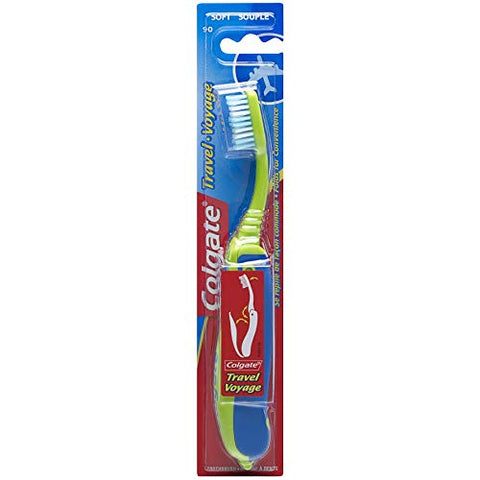 Colgate Travel Toothbrush, Soft - Colors may Vary (6 Pack)