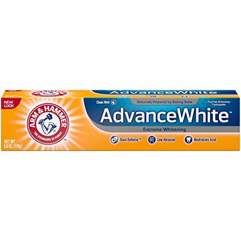 Arm & Hammer Advance White Extreme Whitening Toothpaste Clean Mint - 6 Oz-  Pack of 5