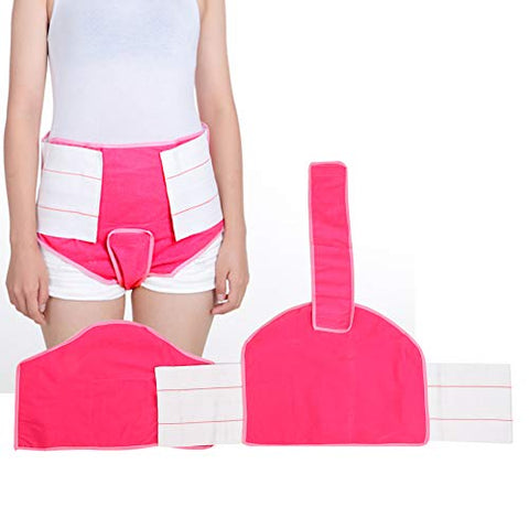 Self-Adhesive Abdominal Breathable Comfortable Bellyband Belt Waist Belt Women(Pink (picture color))