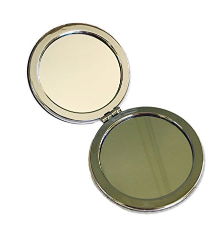 Floral Beauty Compact Personal Travel Mirror 2.75