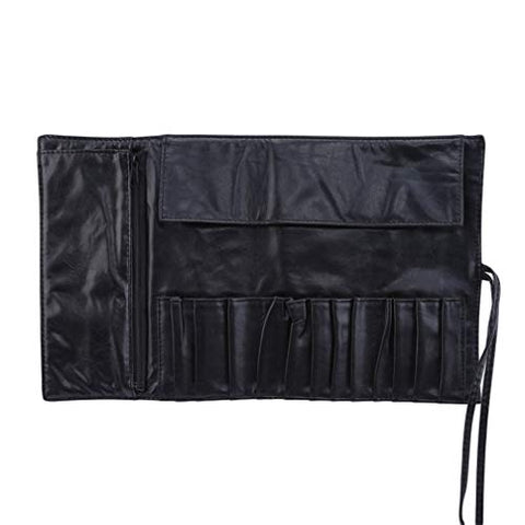 SONGLIN 12 Slots Concealed Zipper Bag Cosmetic Make-Up Brushes Container Case Brushes Holder Roll Bag