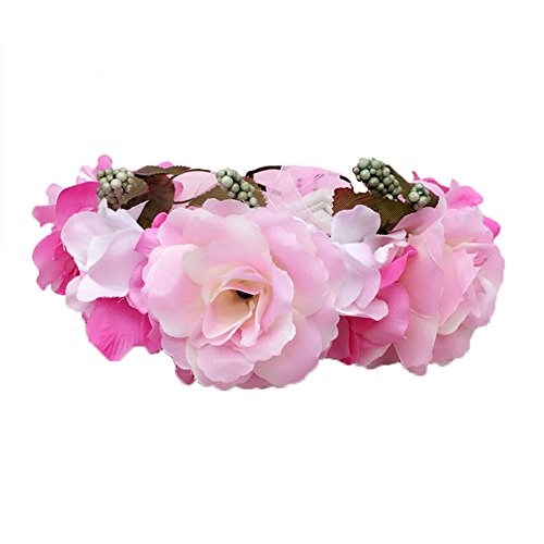 Women Lady Girl Wedding Wreath Bridal Headdress Hair Band Accessories