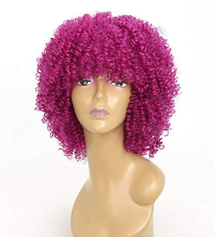 European And American Wig Small Roll Short Explosive Head Female High Temperature Silk Chemical Fiber Head Cover