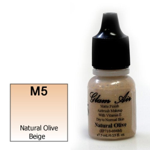 Glam Air Airbrush M5 Natural Olive Beige Matte Foundation Water-based Makeup (995) (Ideal for Normal to Oily Skin)