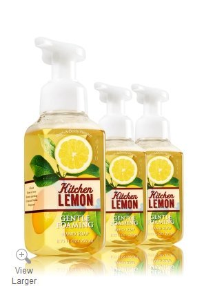 Bath & Body Works Gentle Foaming Hand Soap Kitchen Lemon (3-Pack)
