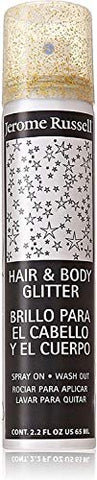 Jerome Russell Hair and Body Glitter Spray, Gold 2.2 oz (Pack of 10)