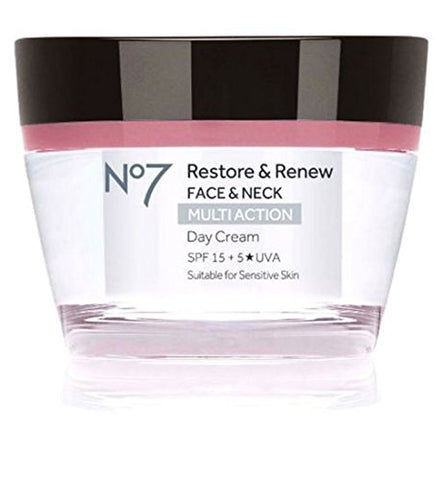 No7 Restore & Renew FACE & NECK MULTI ACTION Day Cream 50ml