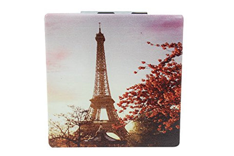 Love Paris Eiffel Tower Art Design Double Side Compact Mirror (B)