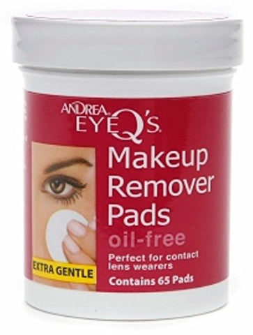 Andrea Eye Q's Eye Make-Up Remover Pads Oil-Free 65 Each (Pack of 8)