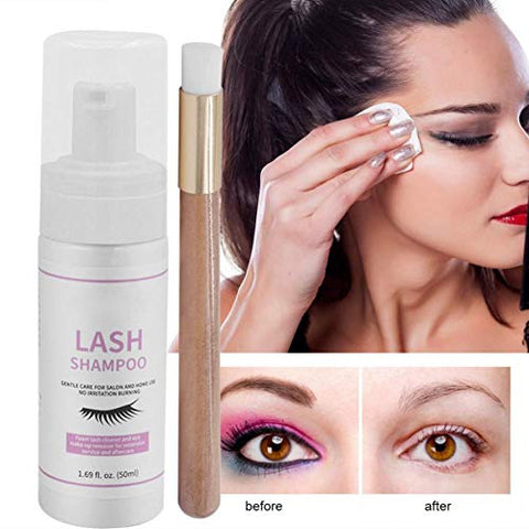 Ofanyia Professional Eyelashes Shampoo Eyes Makeup Remover Eyelash Extension Cleanser Shampoo - 50ml