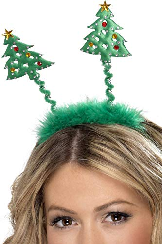 Christmas Tree Boppers, Green, On Headband