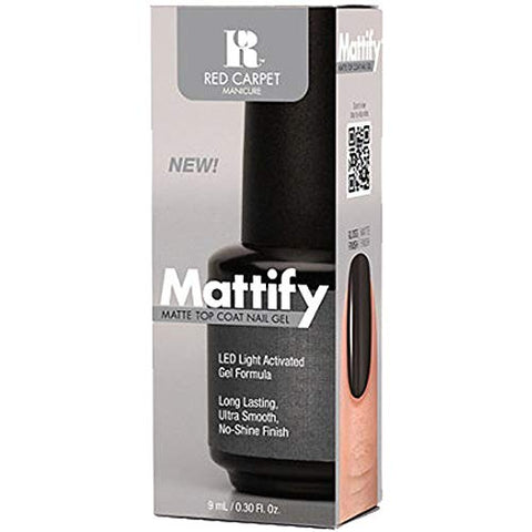 Red Carpet Manicure Mattify Matte Top Coat Nail Gel, 0.3 Fl. Oz.