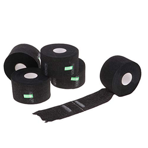 Baoblaze 5 Rolls Barber Neckband - Disposable Neck Strip, Stretchable Paper Hair Cutting Salon Supplies Wrap Cover for Hair Cutting - black