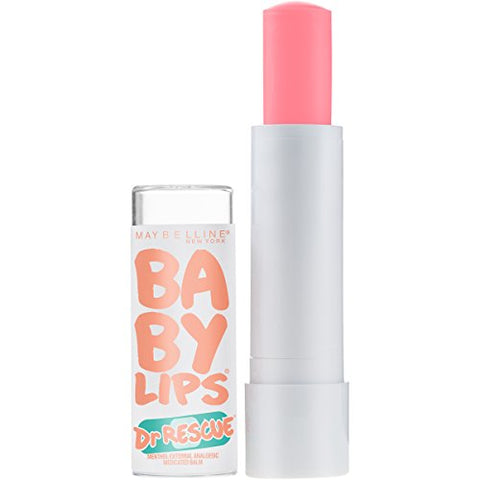 Maybelline New York Dr. Rescue Baby Lips Medicated Lip Balm Makeup, Coral Crave, 0.15 Ounce, Pack Of