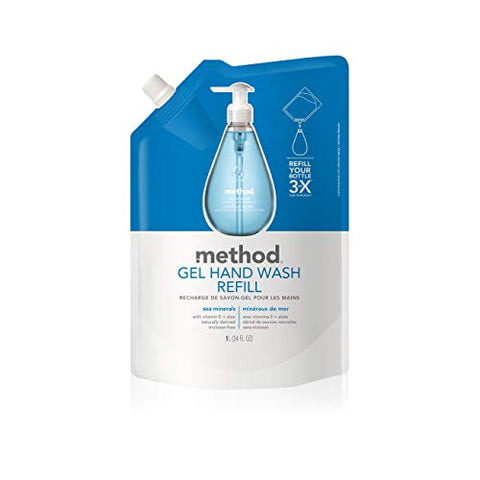Method Gel Hand Soap Refill, Sea Minerals, 34 Fl Oz (Pack Of 6)