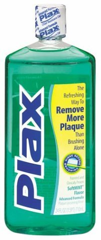 Plax Advanced Formula Plaque Loosening Rinse, Soft Mint, 24 Fluid Ounce (Pack of 4)
