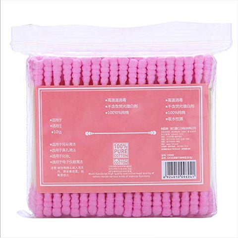 100Pcs/ Pack Double Head Cotton Swab Women Makeup Cotton Buds Tip For Wood Sticks Nose Ears Cleaning Health Care