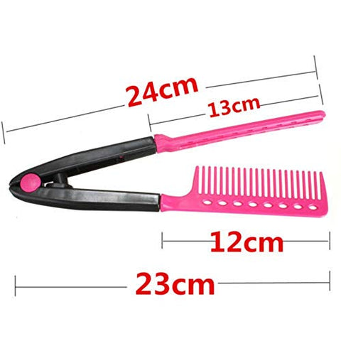S2e1 1 pc V Type Washable Fold Hair Straightener Comb DIY Salon Hairdressing Brush Styling Tool Accessary